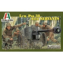5.0 Cm. Pack 38 With Servants - Scale 1/35 - Italeri - ITA-6425
