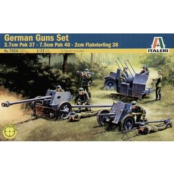 German Guns Set: Pak35-Pak40-Flak38 - Scale 1/72 - Italeri - ITA-7026
