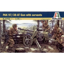 Pak 97/38 At Gun With Crew - Scale 1/35 - Italeri - ITA-6460