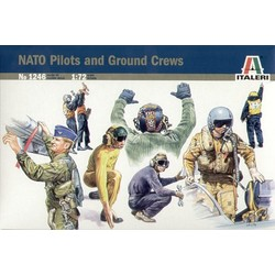Nato Pilots And Ground Crew - Scale 1/72 - Italeri - ITA-1246