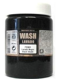 Vallejo Black Wash - 200ml - Vallejo - VAL-73301