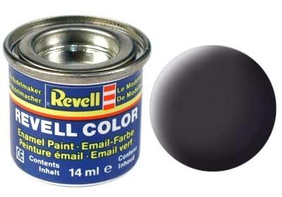 Revell Tar Black Matt - Enamel verf - 14ml - Revell - RV32106