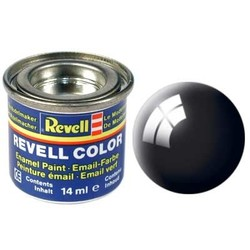 Black Gloss - Enamel verf - 14ml - Revell - RV32107