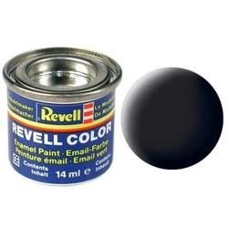 Black Matt - Enamel verf - 14ml - Revell - RV32108