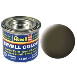 Black-Green Matt - Enamel verf - 14ml - Revell - RV32140