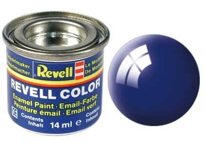 Revell Ultramarine-Blue Gloss - Enamel verf - 14ml - Revell - RV32151
