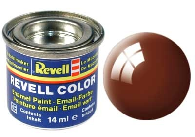 Revell Mud Brown Gloss - Enamel verf - 14ml - Revell - RV32180
