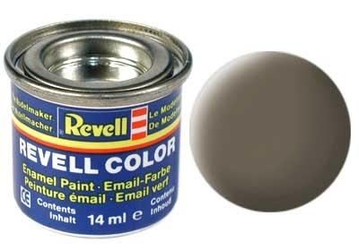 Revell Olive Brown Matt - Enamel verf - 14ml - Revell - RV32186