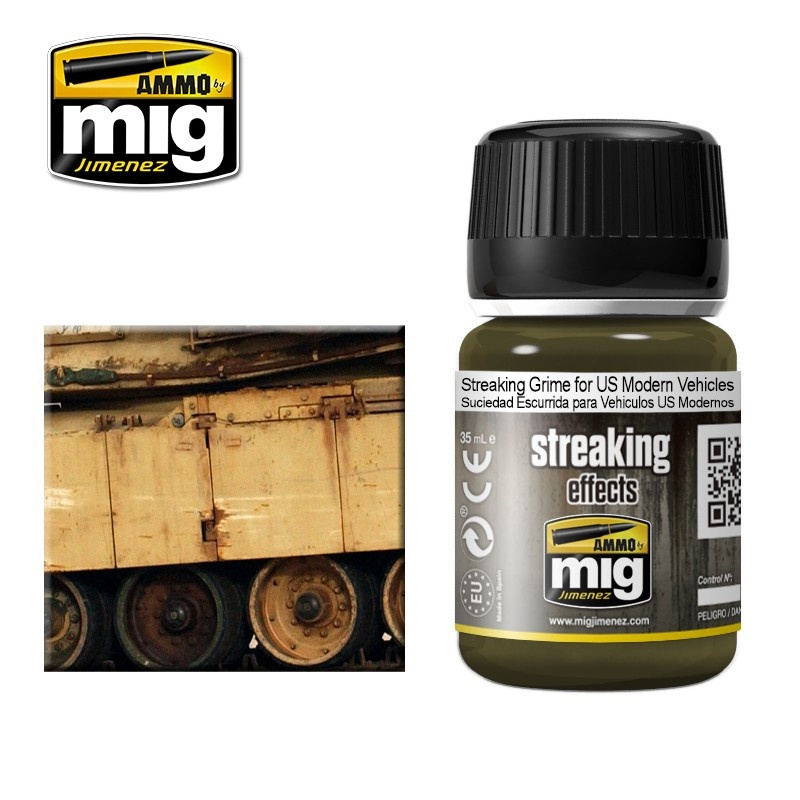 Ammo by Mig Jimenez Streaking Grime For Us Modern Vehicles  - 35ml - Ammo by Mig Jimenez - A.MIG-1207