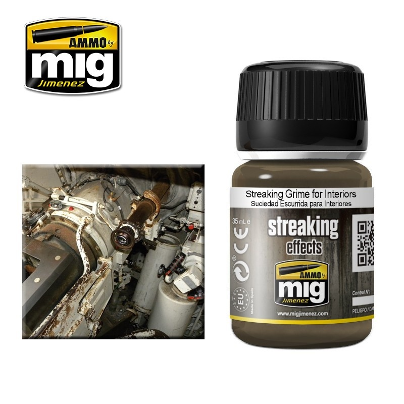 Ammo by Mig Jimenez Streaking Grime For Interiors - 35ml - Ammo by Mig Jimenez - A.MIG-1200