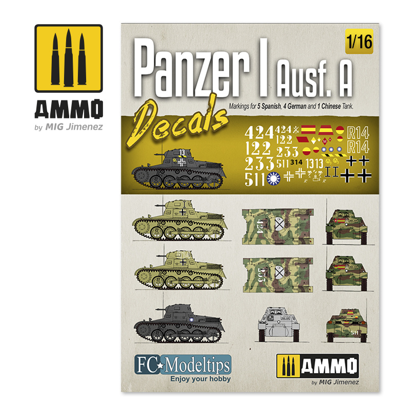Ammo by Mig Jimenez Panzer I Ausf. A. Decals 1/16 - Ammo by Mig Jimenez - A.MIG-8060