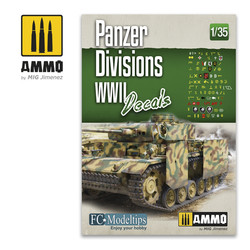 Panzer Divisions WWII Decals 1/35  - Ammo by Mig Jimenez - A.MIG-8061