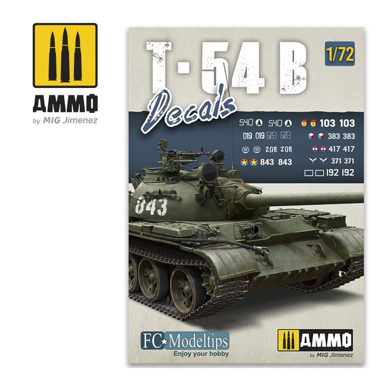 Ammo by Mig Jimenez T-54B. Decals 1/72  - Ammo by Mig Jimenez - A.MIG-8062
