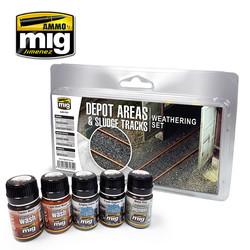 Depot Areas - Sludge Tracks Weathering Set - Ammo by Mig Jimenez - A.MIG-7470