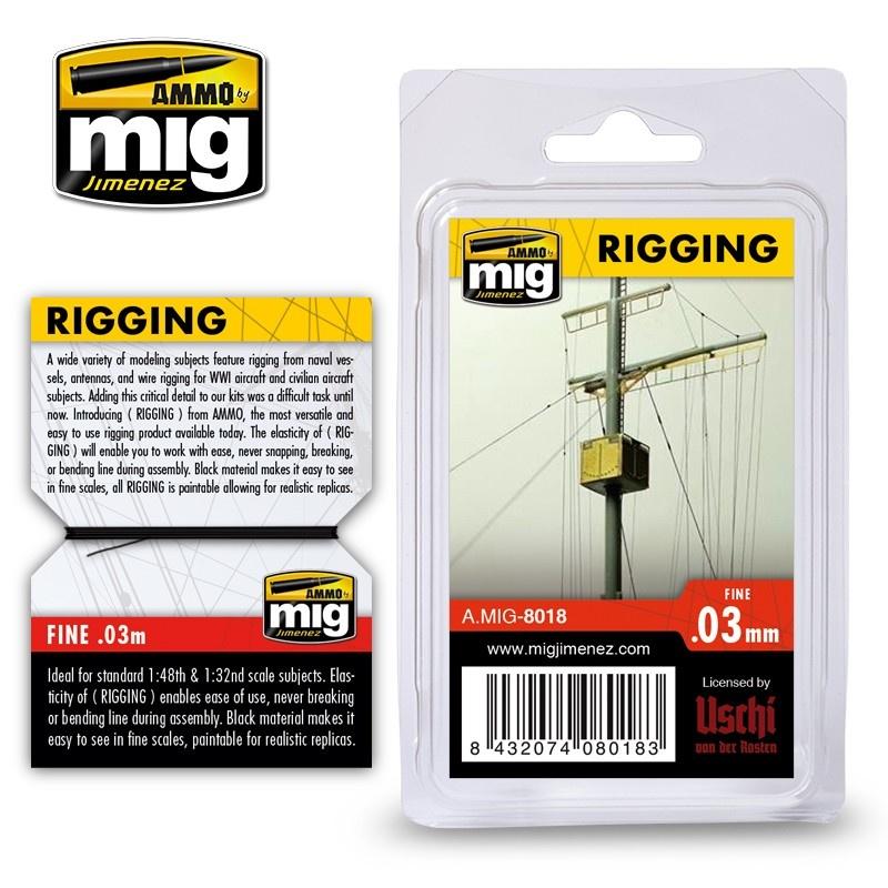 Ammo by Mig Jimenez Rigging - Fine 0,03 Mm - Ammo by Mig Jimenez - A.MIG-8018