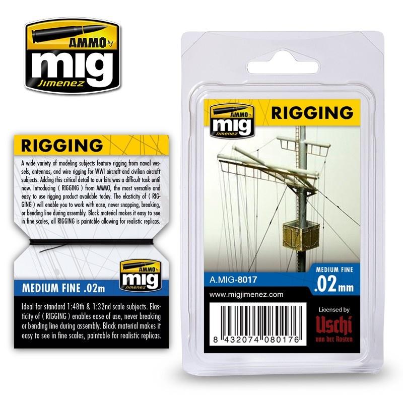 Ammo by Mig Jimenez Rigging - Medium Fine 0,02 Mm - Ammo by Mig Jimenez - A.MIG-8017