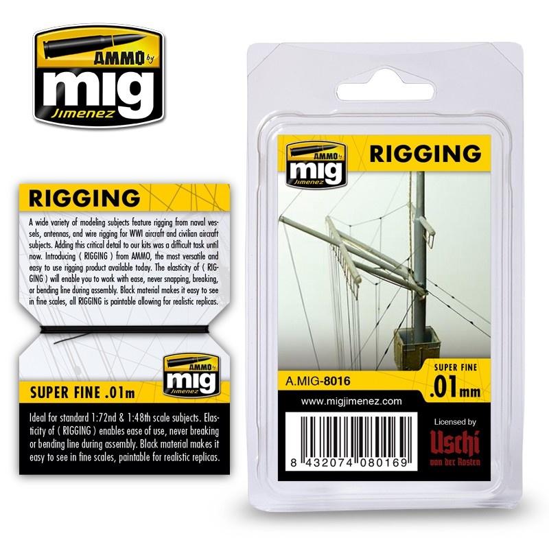 Ammo by Mig Jimenez Rigging - Super Fine 0,01 Mm - Ammo by Mig Jimenez - A.MIG-8016