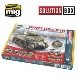 Solution Box 01 WW II American ETO - Ammo by Mig Jimenez - A.MIG-7700