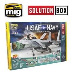 Solution Box 06 USAF NAVY Grey Fighters - Ammo by Mig Jimenez - A.MIG-7709