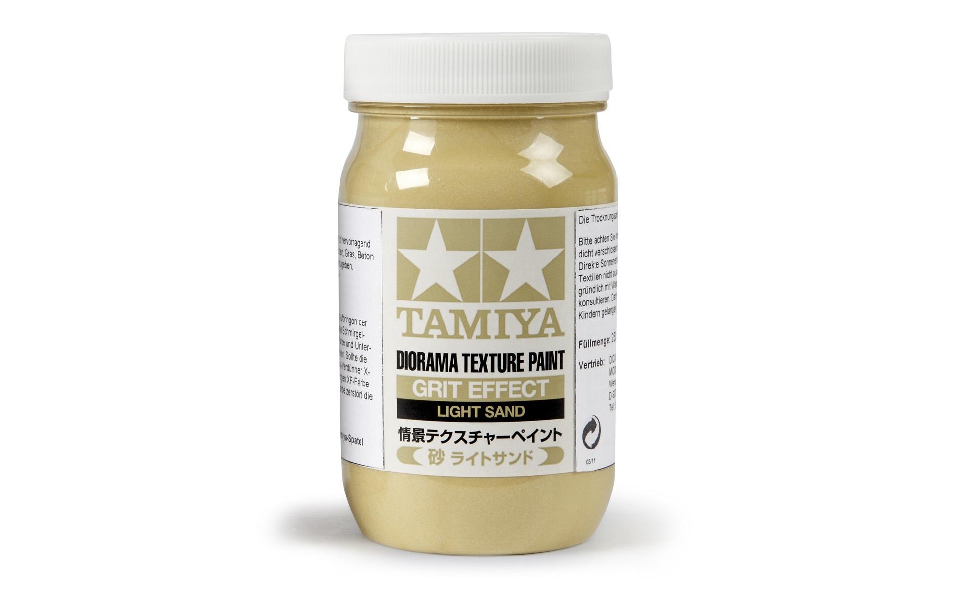 Tamiya Diorama Texture Paint - Grit Effect, Light Sand - 250ml - Tamiya - TAM87122