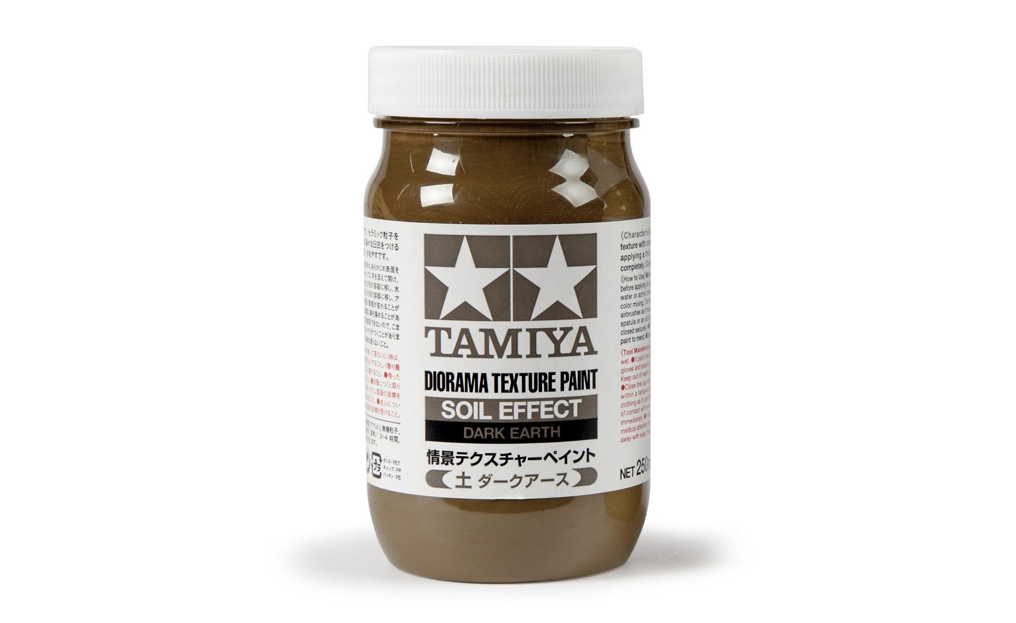 Tamiya Diorama Texture Paint - Soil Effect, Dark Earth - 250ml - Tamiya - TAM87121