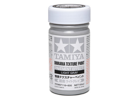 Tamiya Diorama Texture Paint - Pavement Effect, Light Gray - 100ml - Tamiya - TAM87116