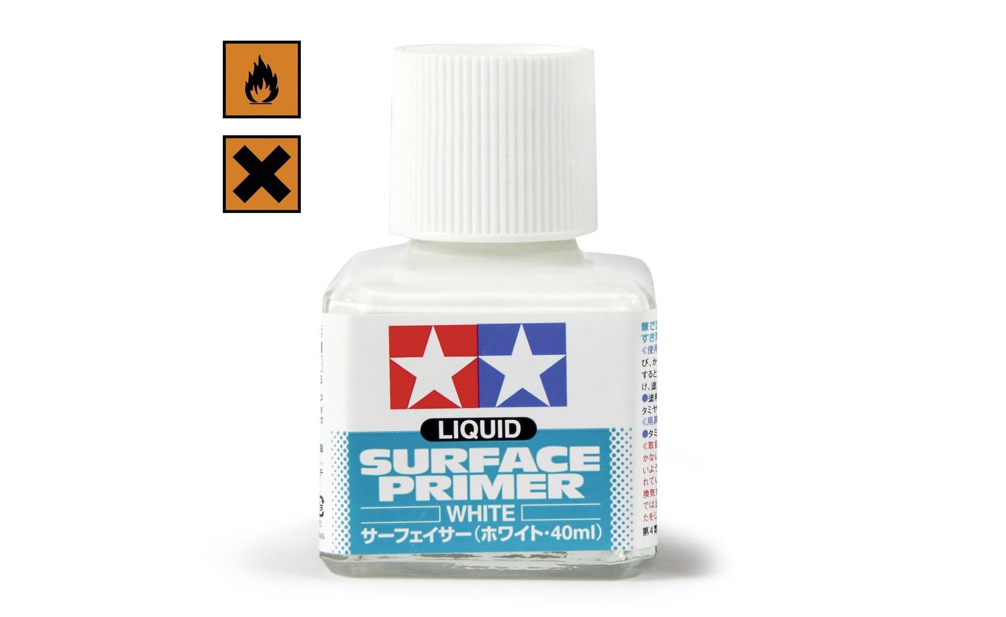 Tamiya Liquid Surface Primer - 40ml - White - Tamiya - TAM87096