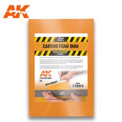 Carving Foam 8Mm A4 Size (305 X 228 Mm) - AK-Interactive - AK-8095