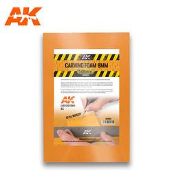 Carving Foam 8 Mm A5 Size (228 X 152 Mm) - AK-Interactive - AK-8093