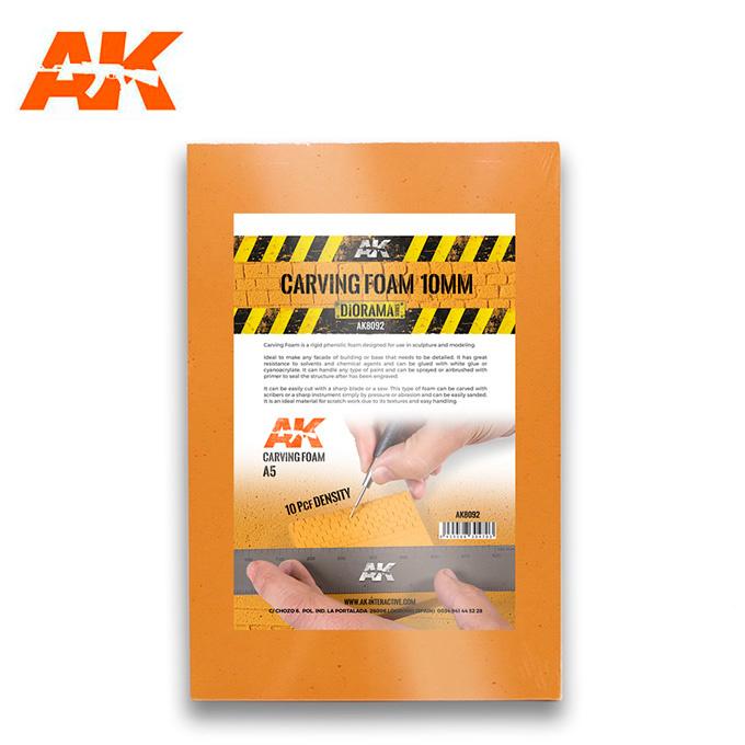 AK-Interactive Carving Foam 10Mm A5 Size (228 X 152 Mm) - AK-Interactive - AK-8092
