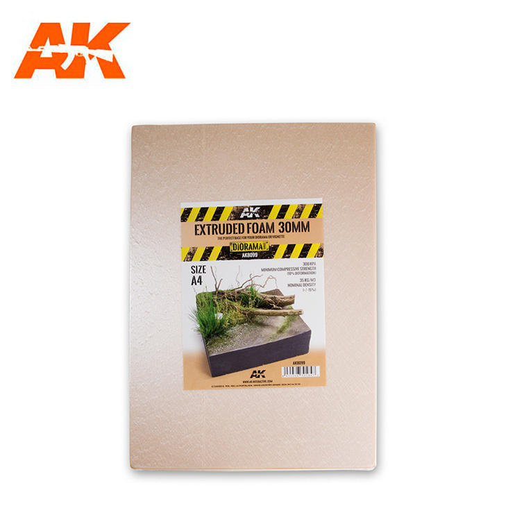 AK-Interactive Extruded Foam 30 Mm A4 Size - AK-Interactive - AK-8099