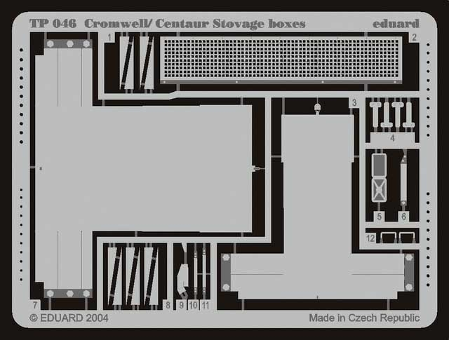 Eduard Cromwell/Centaur Stowage Boxes - Eduard - Scale 1/35 - EDD TP046