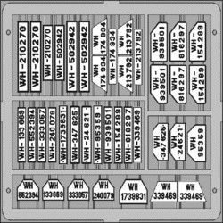 German Car Licence Plates - Eduard - Scale 1/35 - EDD TP503