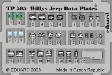 Eduard Willys Jeep - Eduard - Scale 1/35 - EDD TP505