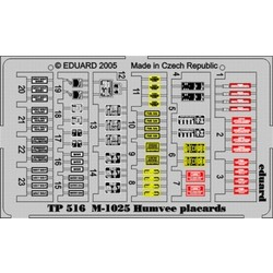 M-1025 Placards - Eduard - Scale 1/35 - EDD TP516