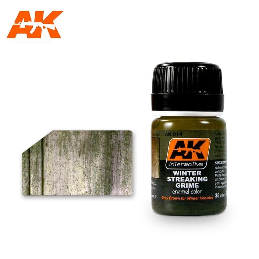 AK-Interactive Streaking Grime For Winter Vehicles - 35ml - AK-Interactive - AK-014