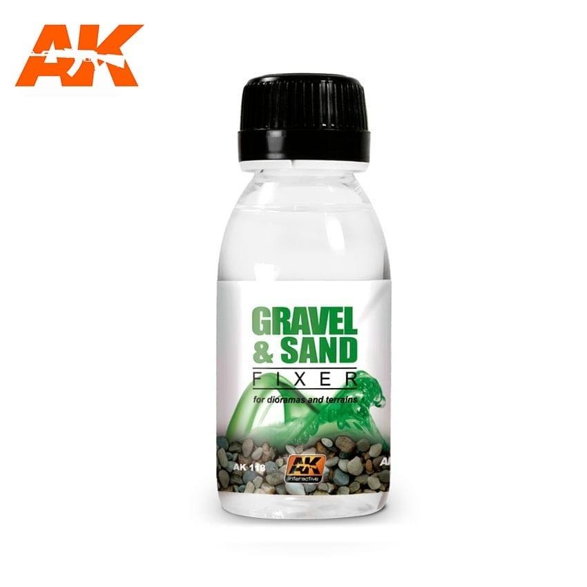 AK-Interactive Gravel & Sand Fixer - 100ml - AK-Interactive - AK-118