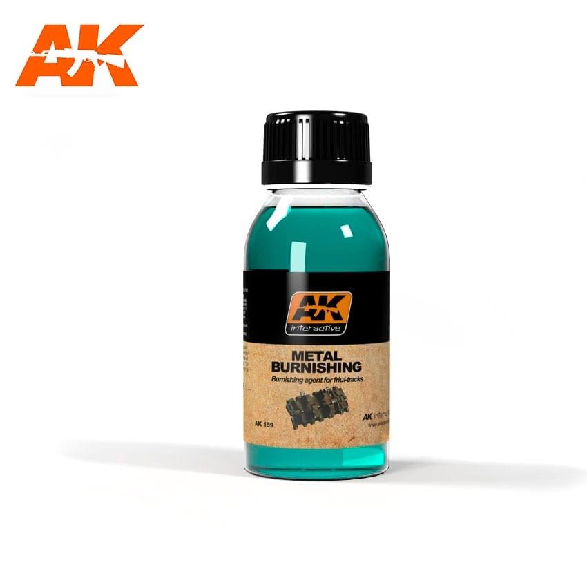 AK-Interactive Metal Burnishing Fluid - 100ml - AK-Interactive - AK-159