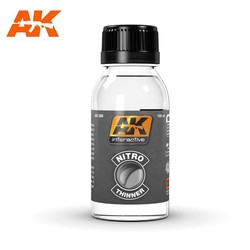 Nitro Thinner (For Clear Colors And For Cleaning) - 100ml - AK-Interactive - AK-268