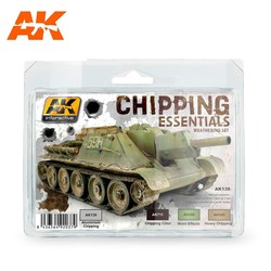 Chipping Essentials Weathering - set - AK-Interactive - AK-138