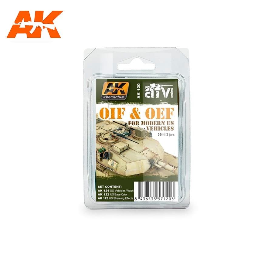 AK-Interactive Oif & Oef - Us Vehicles Weathering - set - AK-Interactive - AK-120