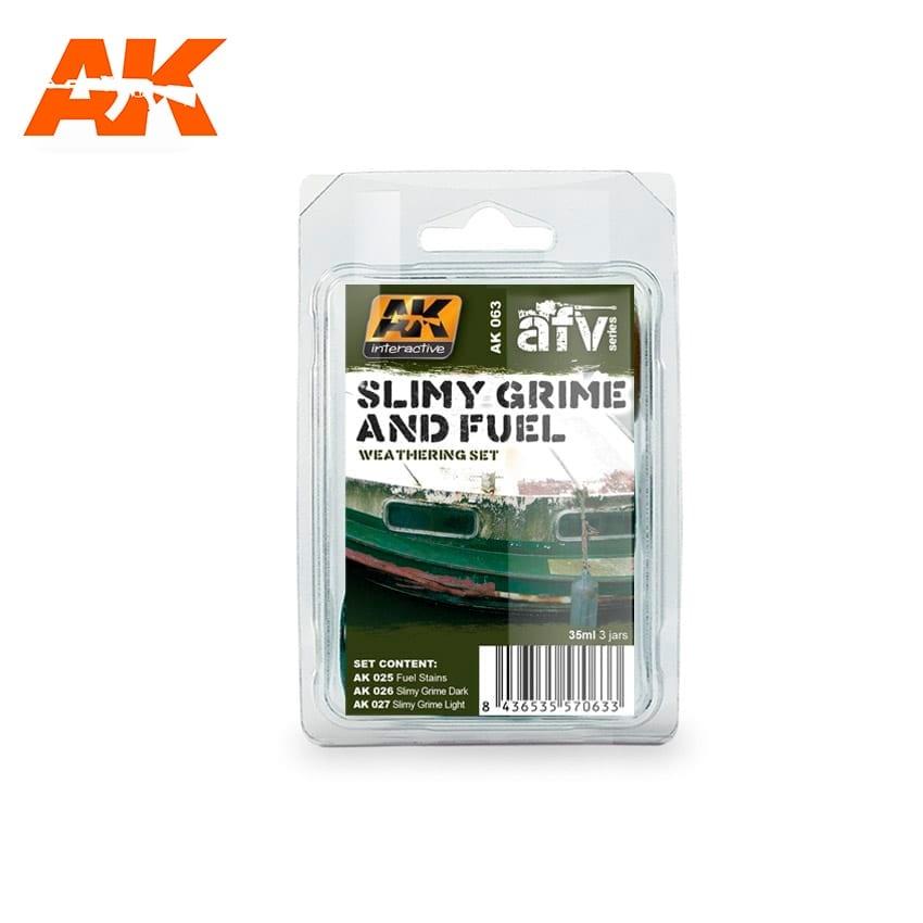 AK-Interactive Slimy Grime And Fuel - set - AK-Interactive - AK-063
