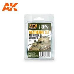 Green Vehicles Weathering - set - AK-Interactive - AK-064