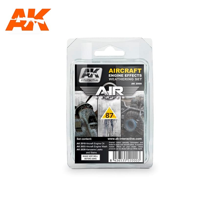 AK-Interactive Aircraft Engine Weathering - set - AK-Interactive - AK-2000