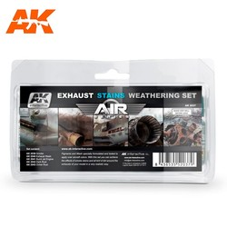 Exausts & Stains Weathering - set - AK-Interactive - AK-2037