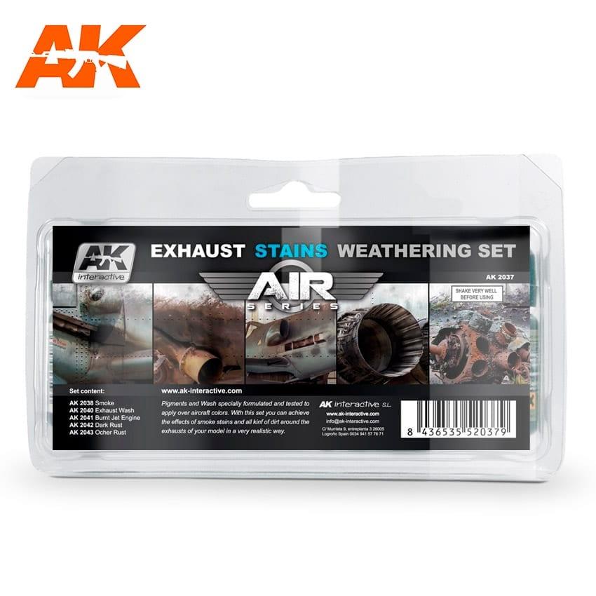 AK-Interactive Exausts & Stains Weathering - set - AK-Interactive - AK-2037