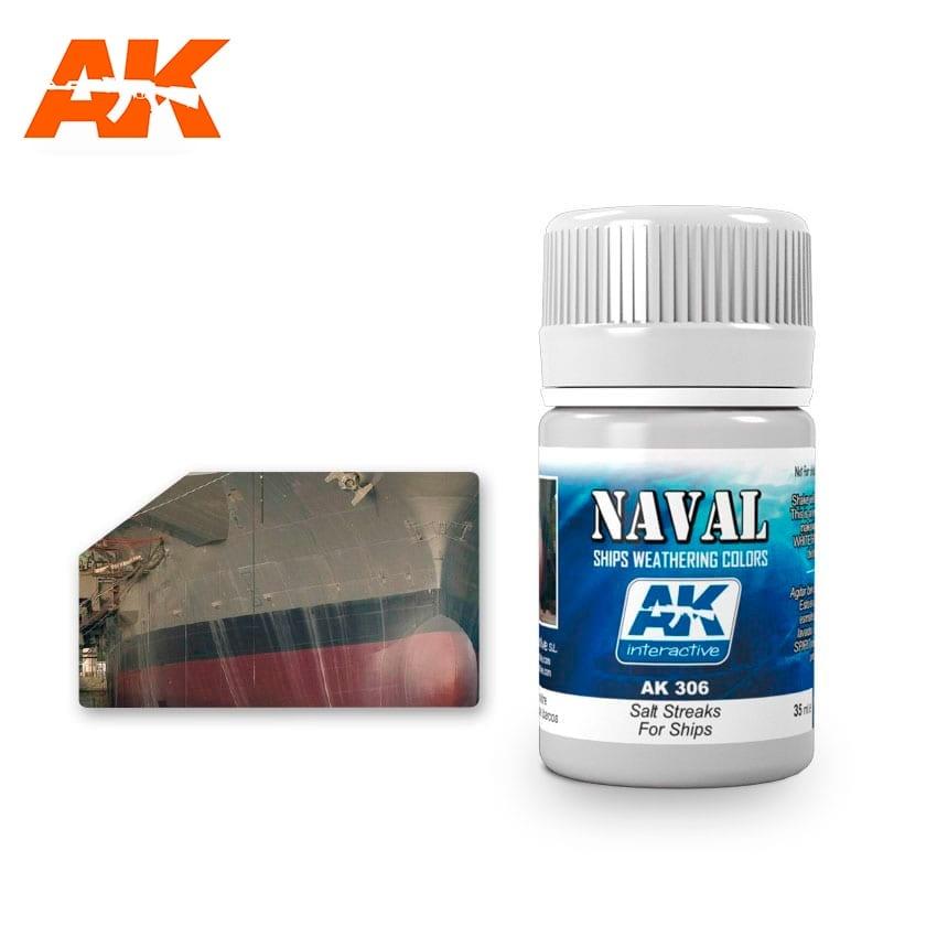 AK-Interactive Salt Streaks For Ships  - 35ml - AK-Interactive - AK-306