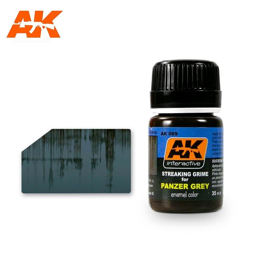 AK-Interactive Streaking Grime For Panzer Grey Vehicles - 35ml - AK-Interactive - AK-069