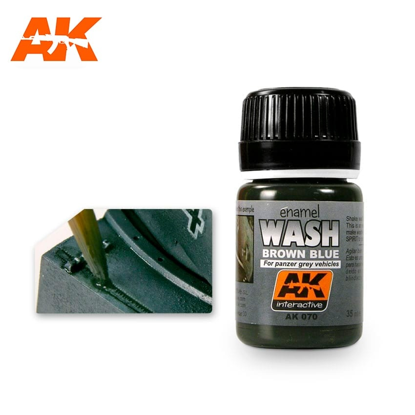 AK-Interactive Wash For Panzer Grey Vehicles - 35ml - AK-Interactive - AK-070