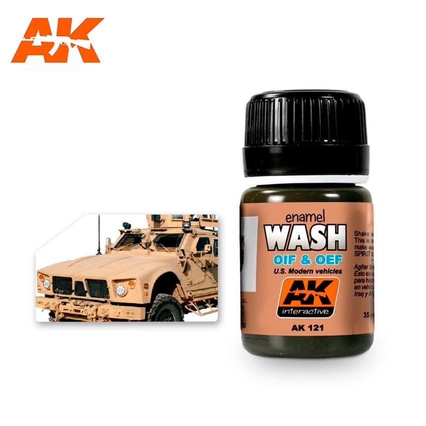 AK-Interactive Wash For Oif & Oef - Us Vehicles - 35ml - AK-Interactive - AK-121